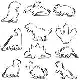JOJOR Emporte-pièces Dinosaure Kit pour Enfants Fête Anniversaire Dinosaure Déco, 11 Pièces Acier Inoxydable Emporte Pièces (
