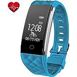 HR Fitness Tracker,Juboury Fitness Armband mit Touchscreen Aktivitäts-Tracker,Herzfrequenz,Schrittzähler,Schlaf Monitor,Kalorien Tracker.Bluetooth Smart Wristand Wearable für Android und IOS Smartphon