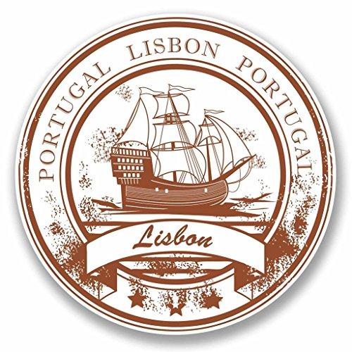Preisvergleich Produktbild 2x Lissabon Portugal Vinyl Aufkleber Aufkleber Laptop Auto Reise Gepäck Label Tag # 9784 - 10cm/100mm Wide