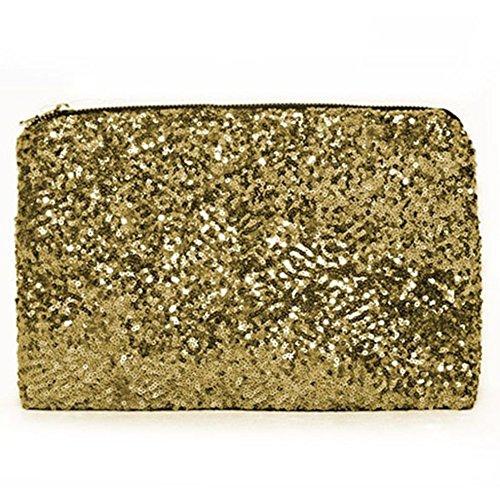Trendige Damenhandtasche Mini Clutch Vintage Kleine Tasche Abendtasche NEU gold20
