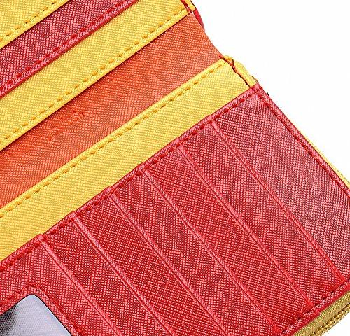 Moda Coreano Edition Signora Women Frizione Borsa lunga Pelle Fermaglio Portafoglio PU Titolare della carta Borsetta Borse 4 Colori (Rosa) Rosa