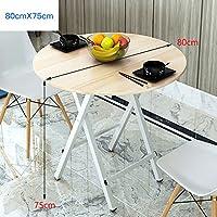 Yuan Table Mesa de Centro Plegable pequeña de Cocina y Mesa de Comedor Mesa de Centro de Mesa Plegable de Madera portátil de jardín para computadora con Patas de Metal sin instalación/Desk