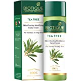 Biotique Tea Tree Skin Clearing Mattifying Facial Toner for Normal to Oily Skin Face Toner, 120ml | Treats Acne & Pimples, Ti