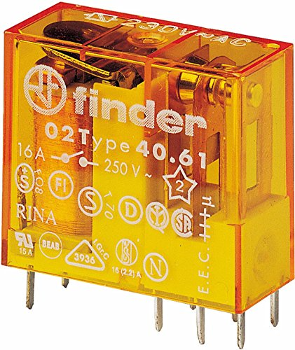 Finder 40.61.8.024.0000 Steck/Printrelais 24 V AC 1 W 16 A -