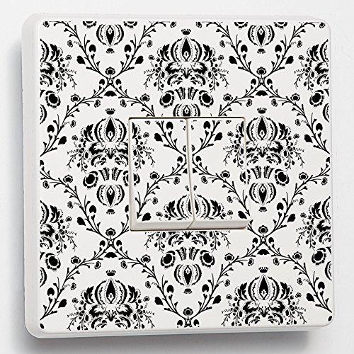 Vintage Noir et blanc Motif Skin en vinyle autocollant pour pour interrupteur