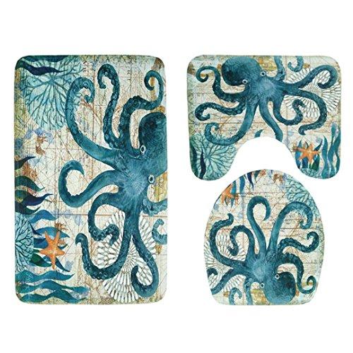 Trada Bereich Teppiche Matte Teppich, 3 stücke Rutschfeste Sauggriff Badematte Badezimmer Küche Teppich Fußmatten Badezimmer Badematte Fußmatte Zubehör Decor (A) -