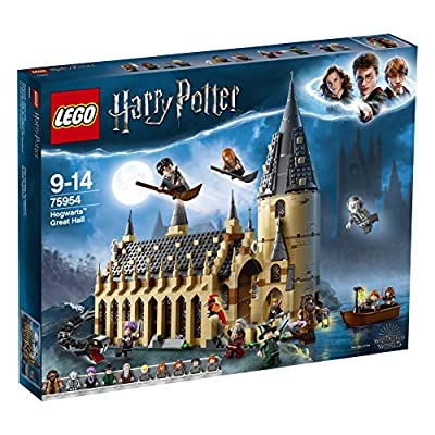 LEGO 75954 Harry Potter Hogwarts Great Hall Building Set, Harry Potter Movies, Wizarding World, Magical Fun Toy