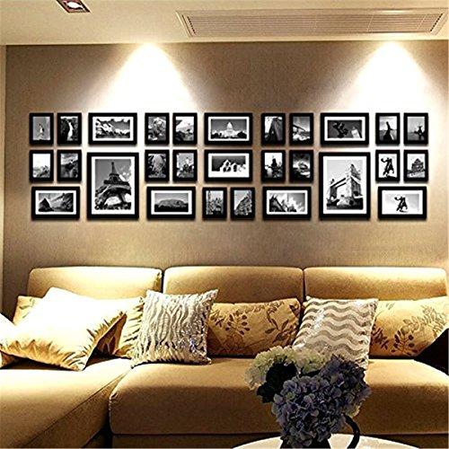 Preisvergleich Produktbild 28Multi-Bilderrahmen Set, Bilderrahmen, Wand-Rahmen Set mit hochwertigem Rahmen, großer Bilderrahmen Wand Set, Best Wanddekorationen, Vintage Bilderrahmen