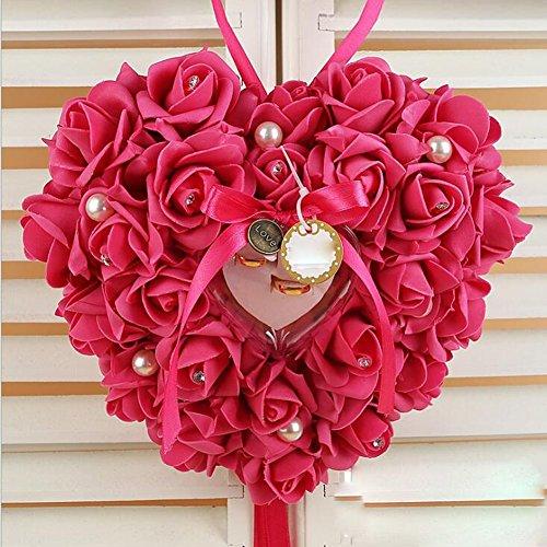 bpblgf Herzform für Ringe, Bubble-Blume, Rosa, 03, 21 * 23cm