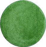 Grund Badteppich 32 mm 100% Polyacryl, ultra soft, rutschfest, ÖKO-TEX-zertifiziert, 5 Jahre Garantie, LEX, Badematte 100 cm rund, grün
