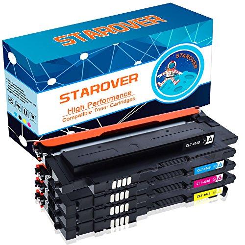 STAROVER Cartouches de toner couleur pour CLT-P404C / CLT-404S CLT-K404S CLT-C404S CLT-M404S CLT-Y404S pour Samsung Xpress SL-C430 SL-C430W SL-C480 SL-C480FW SL-C480W SL-C480FN Imprimeur - 1 Noir, 1 Cyan, 1 Magenta, 1 Jaune