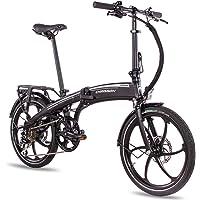 CHRISSON 20 Zoll E-Bike Klapprad eFolder schwarz - E-Faltrad mit Aikema Nabenmotor 250W, 36V, 30 Nm, Pedelec Faltrad für…