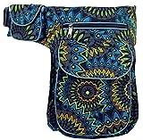 Guru-Shop Stoff Sidebag & Gürteltasche, Goa Gürteltasche - Schwarz, Herren/Damen, Baumwolle, Size:One Size, Festival- Bauchtasche Hippie
