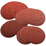 40 x Mixed Grit Sanding Discs For Bosch PEX 220/300 Random Orbital Sander 125mm by Silverline
