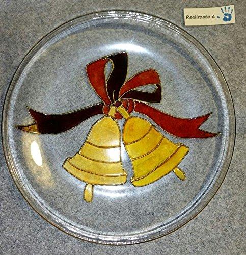 Piatto in vetro dipinto a mano -