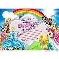 10x Disney princesa Cenicienta fiesta de cumpleaños invitaciones y sobres 10libre., 50