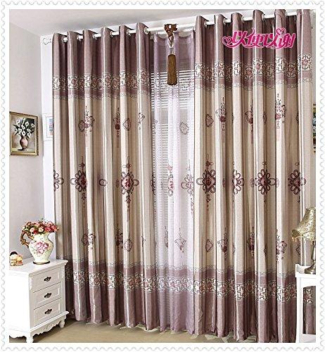 Preisvergleich Produktbild HZH-HZH-Schatten Vorhang pastorale Einfache Schlafzimmer Wohnzimmer Schattierung Wärmedämmung Eindickung (2 pcs), 3.4 Breite Höhe X2.7