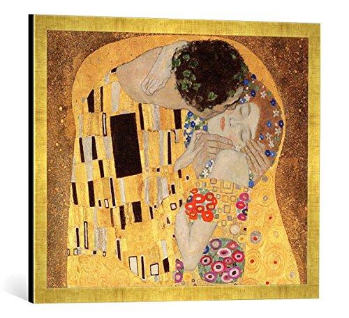 gerahmtes-bild-von-gustav-klimt-detail-of-the-kiss-1907-08-kunstdruck-im-hochwertigen-handgefertigte