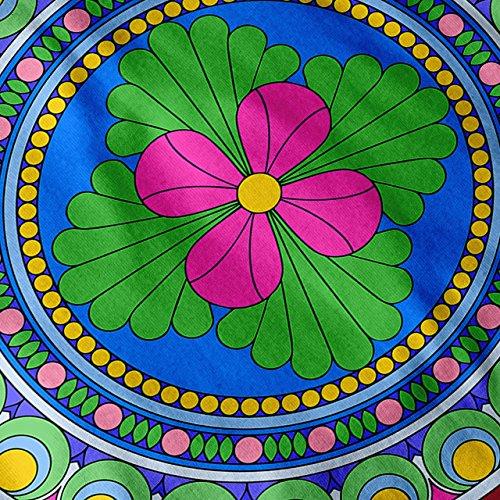 Indien Mandala Kunst Muster Ornament Spaß Damen S-2XL Muskelshirt   Wellcoda Rot