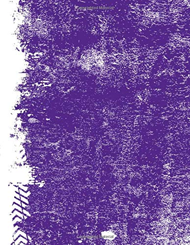 Purple And White: (8.5 x 11 Lined) Blank Grunge Team Color Notebook College Ruled por Belle Journals