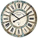 eruner 40,64cm francés Cafe de la Gare Retro Non-ticking Reloj de pared de madera (# 03)