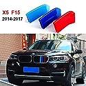 Fur BMW X5 X6 2014-2017 Auto Nieren Kühlergrill Kappe Schnalle Streifen Trim Frontgrill Einsatz Streifen Abdeckung M Power Sport Tech Performance