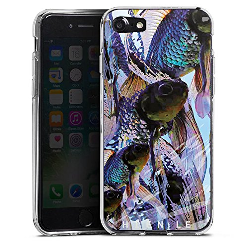Apple iPhone X Silikon Hülle Case Schutzhülle HIEN LE Fashionweek Fische Silikon Case transparent
