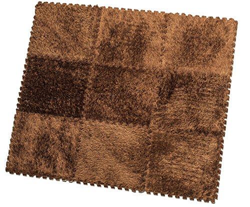 HemingWeigh Alfombra Fuzzy - 9 azulejos de la alfombra mullida para ni