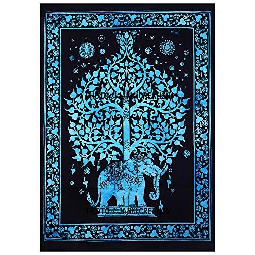 Janki Creation - Póster árbol vida elefante, mandala