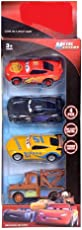 Babytintin Metal Master Cars 4 Die Cast Metal Car with Pull Back Function Pack of 4