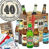 40. Geburtstag | Bier Geschenke mit Biersorten der Welt