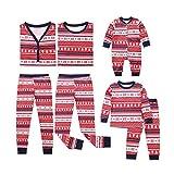 POLP Niño Pijamas de Navidad Familia Snowflake Tops Blusa Pantalones Pijamas Familiares Juego de Navidad a Juego Padre Hijo Madre e Hijo Traje de Ropa de Mujer Hombre Niños Ropa de Dormir