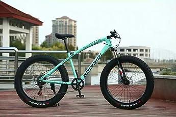 Beinaqui Jaguar Fat Bike/Bicycle/Cycle With Dual Disc Breaks 7 Shimano Gears 26T