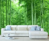 StickersWall Bamboo Tree Rainforest Nature Landscape Scenery Wall Mural Photo Wallpaper Picture Self Adhesive 1015 (342cm(W) x 242cm(H))
