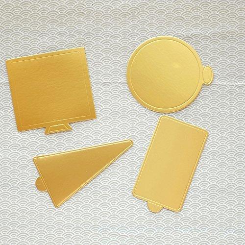Astra Shop 40Stück Mini Golden Karton Kuchen Grundlagen Kuchen, Kreis (rund, quadratisch, rechteckig Dreieck, 100jede Form) Ateco Cutter