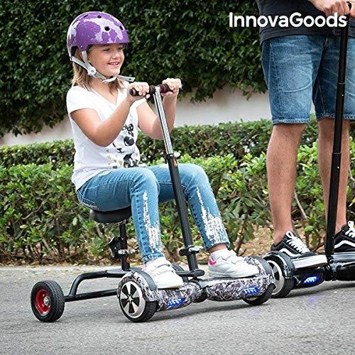 InnovaGoods Ig115908 Hoverbike für Hoverboard, Unisex, Kinder, Schwarz, Einheitsgröße