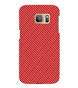 EPICCASE cross lines Mobile Back Case Cover For Samsung Galaxy S7 (Designer Case)