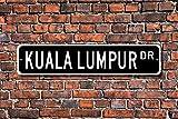 Metall Stree Kuala Lumpur Schild Geschenk Kuala Lumpur