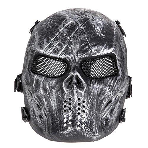 Halloween-party 2018 Airsoft Paintball Maske Skull Full Face Maske Armee-spiele Outdoor Metal Mesh Eye Shield Kostüm Versorgung Als Bild