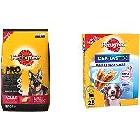 Pedigree PRO Expert Nutrition Active Adult Large Breed Dog (18 Months Onwards) Dry Dog Food, 10kg Pack & Dentastix…