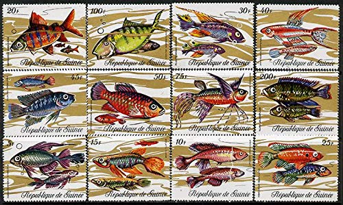 Guinea - Conakry 1971 Fish perf set of 12 u/m SG 729-40* FISH JandRStamps -