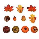 Womdee Fall Home Decoration Set,Artificial Mini Pumpkins and Maple Leaves Decor Creative Fruit Prop Set/Autumn Harvest...
