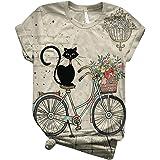 Stampa Animale T Shirt Donna Divertenti Strane Maglietta Ragazza Manica Corta Magliette Maniche Corte Eleganti Particolari Es
