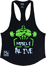 Musclealive Uomo Bodybuilding Canotta Stringer Veste Cotone
