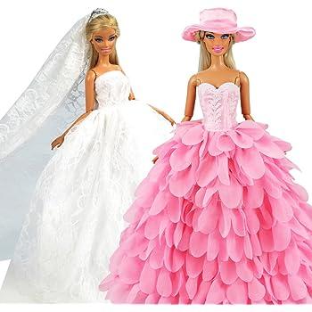 Miunana 2 vestiti per barbie dolls cenerentola bambola - Barbie senza colore ...