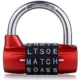5 cijfers Engels letterslot / 5 rondes gymkastdeur wachtwoordslot/groot-rood