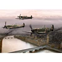 HFDRF Puzzles for Adults 1000 Piece Jigsaw Puzzle - Spitfire Flight, Educational Intellectual Decompressing Toy Puzzles…