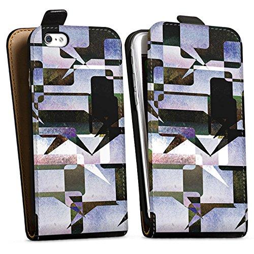 Apple iPhone X Silikon Hülle Case Schutzhülle Grafisch Kollage Modern Downflip Tasche schwarz