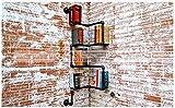 THk&M Sanitär-Rohr-Wandregal Retro Eisen Regale Wasserleitung Racks Industrial American Style Bücherregal, E