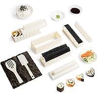 Sushi Maker Kit 10 PCS Moules à Sushi Cuisine Bricolage facile Kit de Préparation à Sushi Sushi set set riz Rouleau Kit…